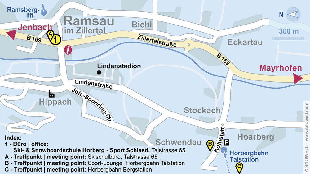 Ski- & Snowboardschule Horberg - Sport Schiestl in Ramsau im Zillertal, Talstrasse 65