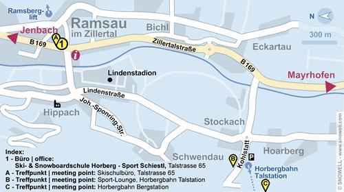 Lageplan Ramsau im Zillertal