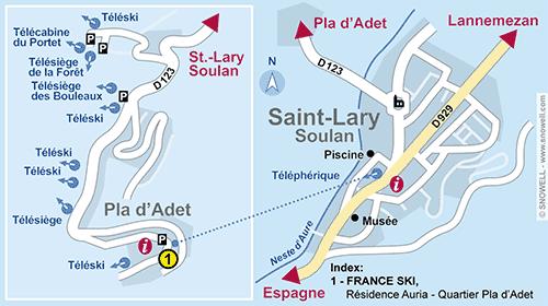 Lageplan Saint Lary