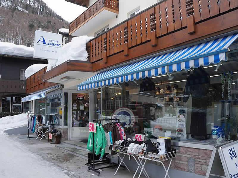 Verleihshop SPORT 2000 Azzurra Sport, Riedstrasse 10 in Zermatt