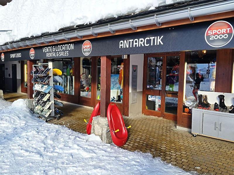 Verleihshop ANTARCTIK, Rond Point Des Pistes in Tignes Val Claret