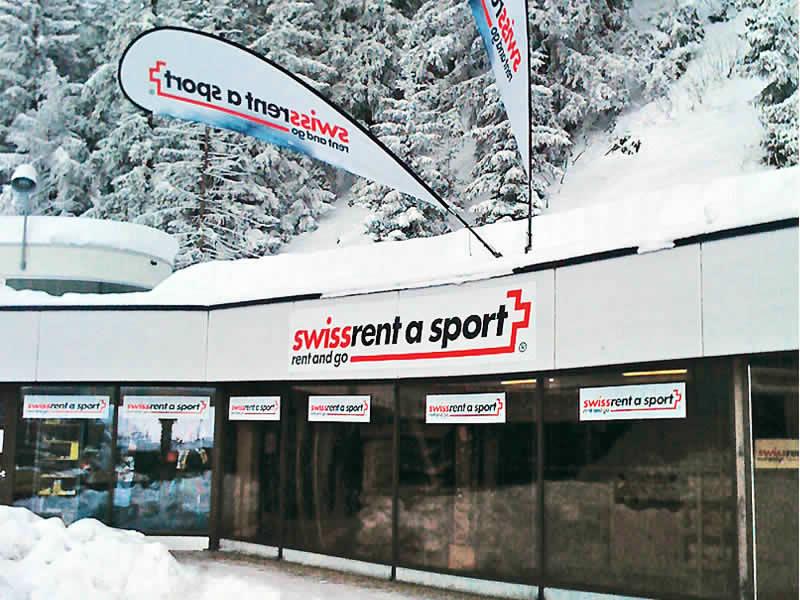 Verleihshop swissrent Crans-Montana, Route des Barzettes 1, Départ Les Violettes in Crans Montana