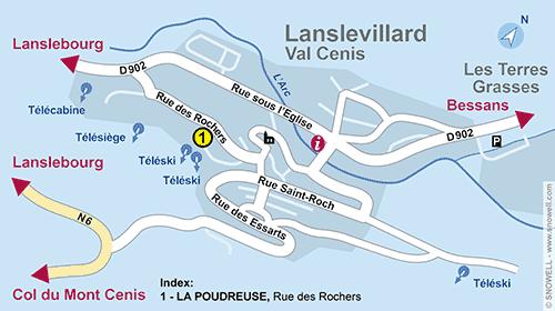 Resort Map Lanslevillard Val Cenis