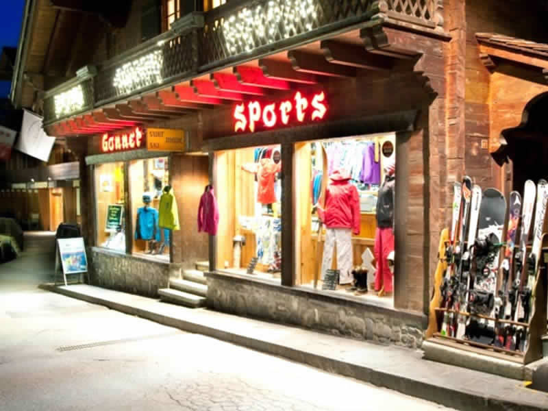 Verleihshop Gonnet Sports, Rue du Village 65 in Champéry