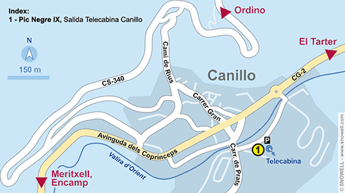 Lageplan Canillo