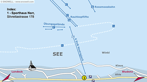 Lageplan See im Paznaun