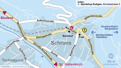 Lageplan Schruns