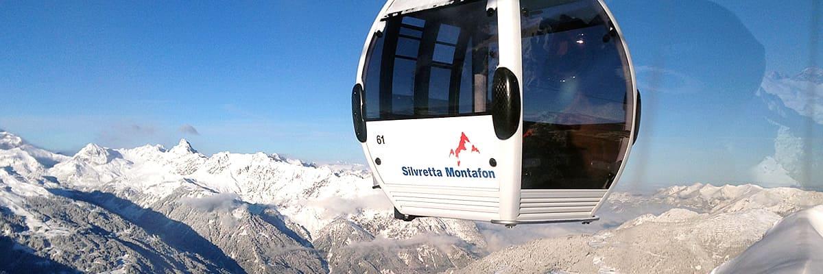 Skigebiet Silvretta Montafon Vorarlberg Österreichh