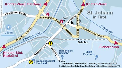 Lageplan St. Johann i. Tirol
