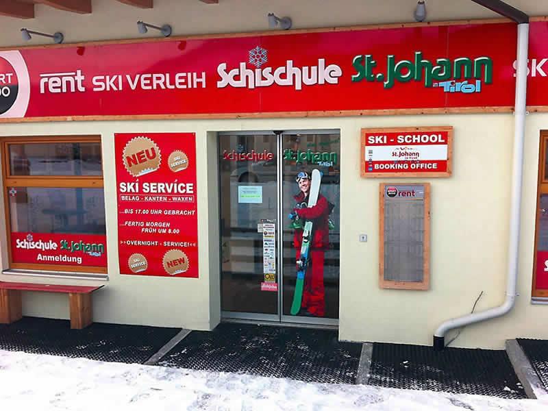 Verleihshop Skiverleih - Skischule St. Johann, Speckbacherstrasse 41a in St. Johann i. Tirol