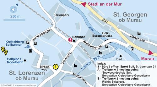 Lageplan St. Georgen/Murau - Kreischberg