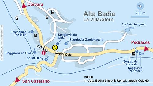 Lageplan Alta Badia-La Villa/Stern