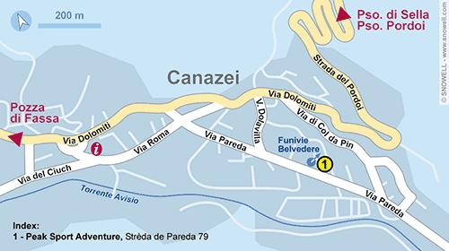 Lageplan Canazei