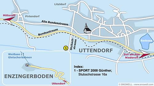 Lageplan Uttendorf, Pinzgau