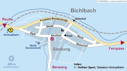 Lageplan Bichlbach