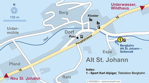Lageplan Alt St. Johann