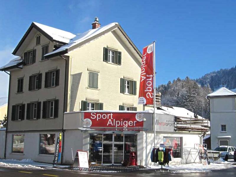 Verleihshop Sport Karl Alpiger, Talstation Bergbahn in Alt St. Johann