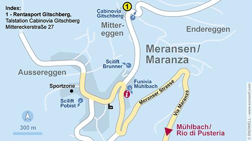 Lageplan Meransen