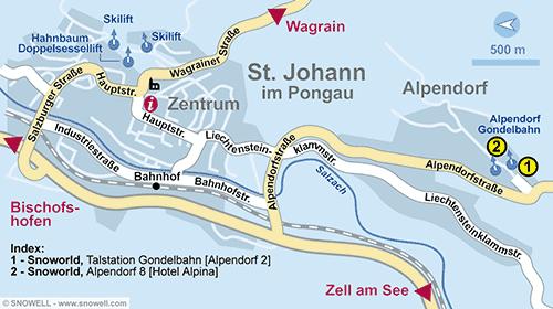 Lageplan St. Johann i.Po.-Alpendorf