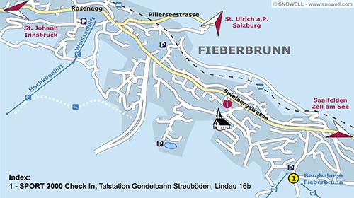 Lageplan Fieberbrunn