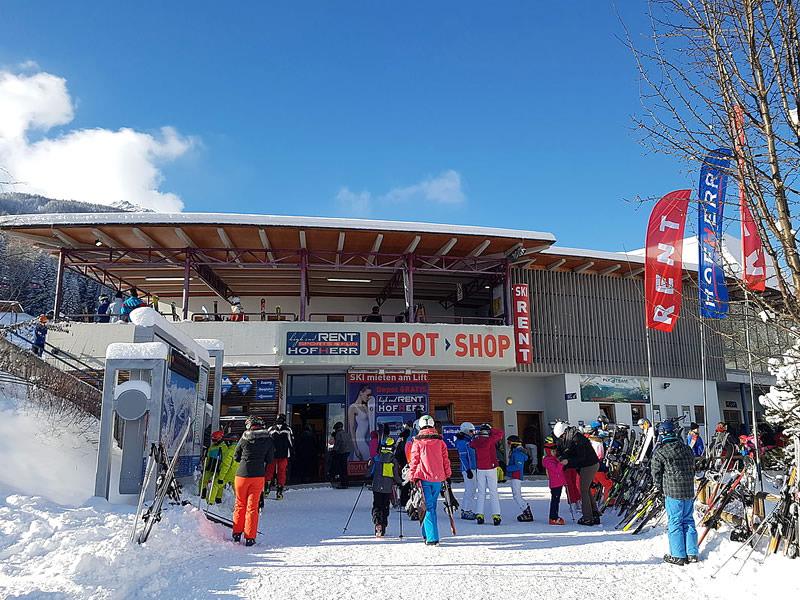 Verleihshop Hofherr Sport, Talstation Grubigsteinbahn - Juch 3 in Lermoos