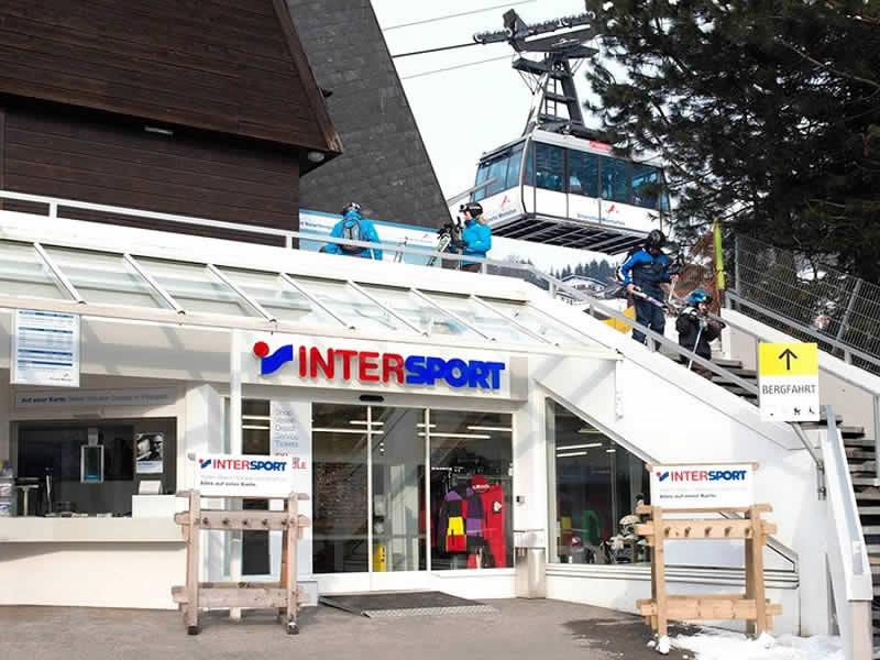 Verleihshop INTERSPORT - Silvretta Montafon, Talstation Hochjochbahn in Schruns