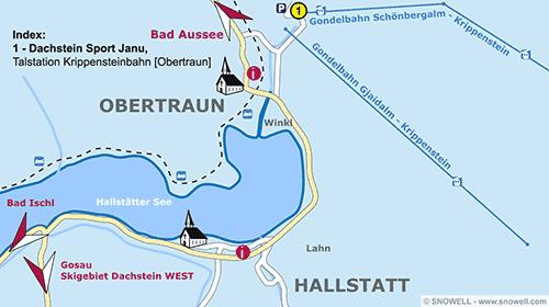 Lageplan Obertraun/Hallstatt