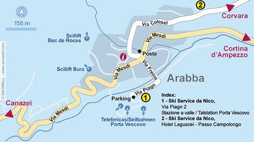 Lageplan Arabba
