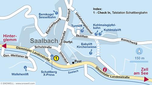 Lageplan Saalbach