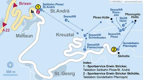 Lageplan Brixen