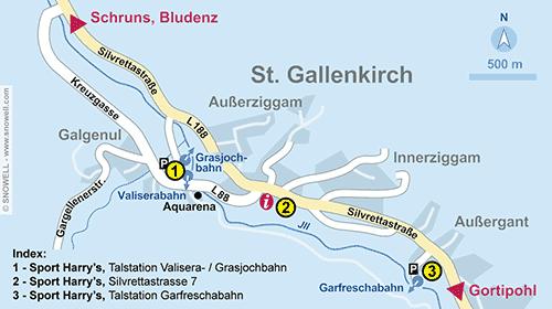 Lageplan St. Gallenkirch