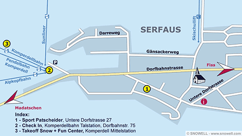 Lageplan Serfaus