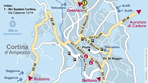 Lageplan Cortina d'Ampezzo