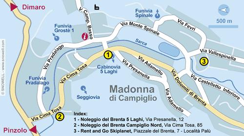 Lageplan Madonna di Campiglio
