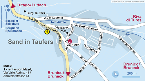 Lageplan Sand in Taufers