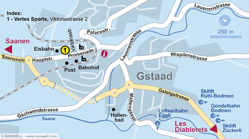 Lageplan Gstaad