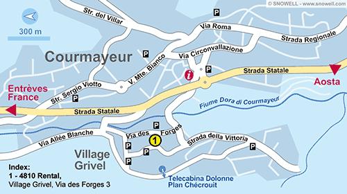 Lageplan Courmayeur