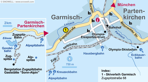 Lageplan Garmisch-Partenkirchen